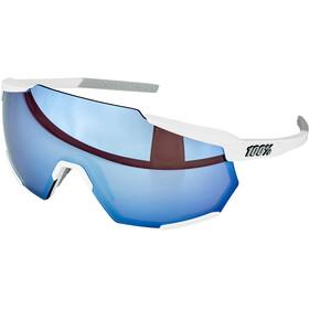 100% Racetrap Glasses matte white/hiper multilayer mirror